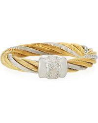 Alor - Classique Two-tone Diamond Ring - Lyst