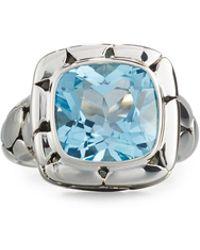John Hardy - Batu Kali Square Blue Topaz Ring - Lyst