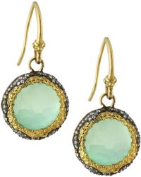 Armenta - Old World Midnight Scalloped Chalcedony Drop Earrings - Lyst