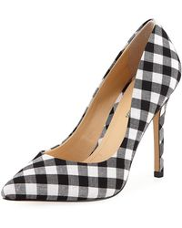Neiman Marcus - Prestige Gingham Point-toe Pumps - Lyst