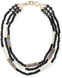 Akola - Three-strand Beaded Moonstone Necklace - Lyst
