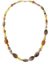 Lydell NYC - Long Single-strand Bead Necklace - Lyst