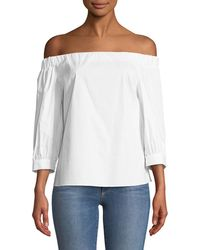 Laundry by Shelli Segal - Off-the-shoulder Three-quarter Sleeve Blouse - Lyst