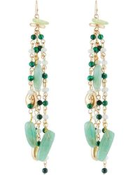 Lydell NYC - Beaded Linear Tassel Earrings - Lyst