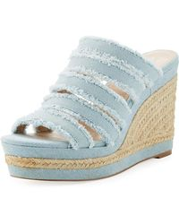 Charles David - Loyal Denim Wedge Espadrilles - Lyst