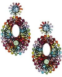 DANNIJO - Mathilda Crystal Chandelier Earrings Rainbow - Lyst