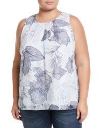 Vince Camuto Signature - Etched Island Sleeveless Blouse - Lyst