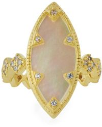 Freida Rothman - Textured Mother-of-pearl Eyelet Ring Size 6 - Lyst