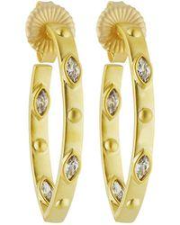 Freida Rothman | Amazonian Allure Pointed Hoop Earrings | Lyst