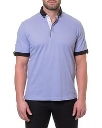 Maceoo - Men's Paint-drip Pique Polo Shirt - Lyst