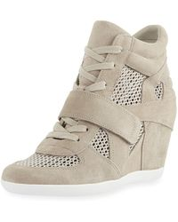 73a583815321 Ash - Bowie Mixed Mesh Wedge Sneakers - Lyst