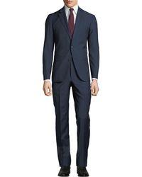 Neiman Marcus - Men's Pin-dot Bow Weave Two-piece Suit Blue - Lyst