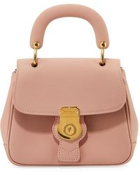 Burberry - Trench Small Leather Top Handle Bag Light Pink - Lyst