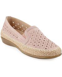 Neiman Marcus - Noggin Perforated Loafer Espadrilles - Lyst