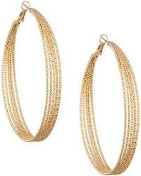 Lydell NYC | Textured Multi-row Hoop Earrings | Lyst