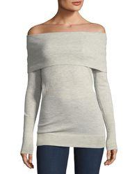 Autumn Cashmere - Cashmere Off-the-shoulder Sweater - Lyst