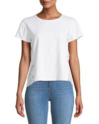 Philosophy - Lace-side Crewneck Tee - Lyst