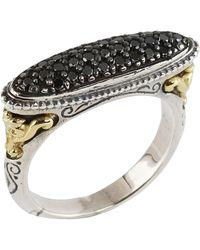 Konstantino - Asteri Narrow Horizontal Oval Ring W/ Pave Diamonds - Lyst