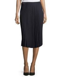 Tahari - Pleated Crepe Midi Skirt - Lyst