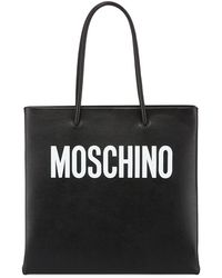 Moschino - Calf Leather Tote Bag - Lyst