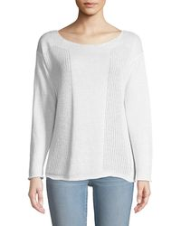Lafayette 148 New York - Honeycomb-knit Bateau-neck Sweater - Lyst