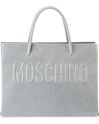 Moschino - Metallic Leather Tote Bag - Lyst