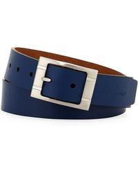 Robert Graham - Darrowsville Nickel Buckle Leather Belt - Lyst