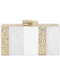 Sondra Roberts - Striped Resin Evening Box Clutch Bag - Lyst