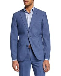 Neiman Marcus - Men's Striped Modern-fit Two-piece Suit - Lyst