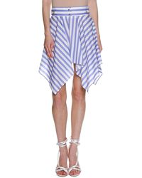 Francesco Scognamiglio - Striped Handkerchief-hem Skirt - Lyst