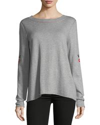 Lisa Todd - Peek-a-boo Relaxed Sweater - Lyst