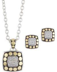 John Hardy - Dot Diamond Earrings & Necklace Gift Set - Lyst