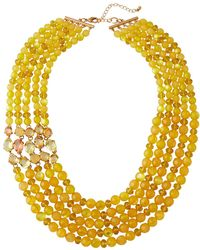 Lydell NYC - Multi-strand Beaded Necklace - Lyst