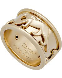 Cartier - Estate 18k Panthere De Band Ring - Lyst