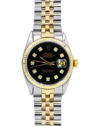 Rolex - Pre-owned 36mm 18k Gold & Diamond Bracelet Watch - Lyst