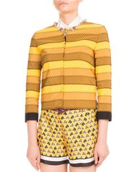 Mary Katrantzou - Kryla Ribbon-stripe Jeweled Jacket - Lyst