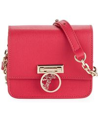 Versace - Small Saffiano Leather Crossbody Bag With Medusa - Lyst
