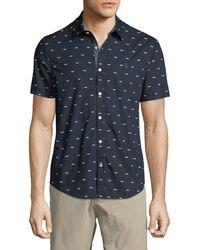 4f4696bc Original Penguin Hawaiian-print Short-sleeve Sport Shirt in Blue for ...