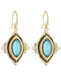 Armenta - Old World Turquoise & Diamond Marquise Drop Earrings - Lyst