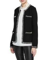 Karl Lagerfeld - Pearly 4-pocket Boiled Wool Sweater - Lyst