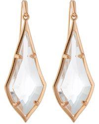 Kendra Scott Olivia Drop Earrings Clear