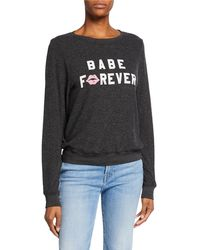 Wildfox - Babe Forever Baggy Beach Sweater Sweatshirt - Lyst