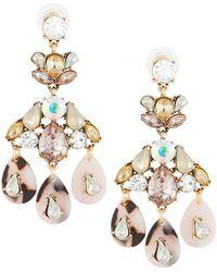 Fragments - Crystal Teardrop Dangle Earrings - Lyst
