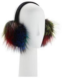Neiman Marcus - Velvet Fox Fur Earmuffs - Lyst