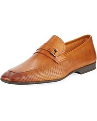 Neiman Marcus - Men's Butero Perforated Slip-on - Lyst