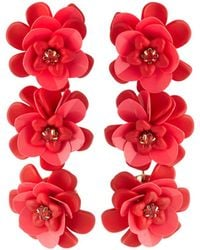 Lydell NYC - Triple Flower-drop Earrings - Lyst