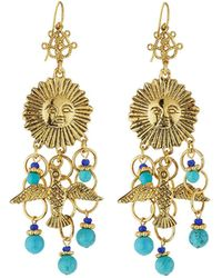 Jose & Maria Barrera - Sun & Dove Charm Chandelier Earrings - Lyst