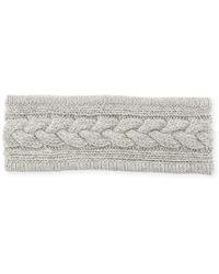 Portolano - Cashmere Cable-knit Headband - Lyst