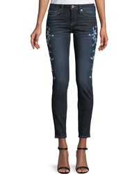 Cece by Cynthia Steffe | Floral-embroidered Skinny Jeans | Lyst