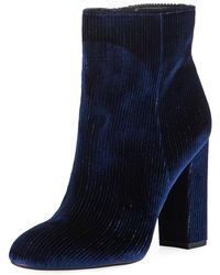 Circus by Sam Edelman - Connelly Velvet Zip Booties - Lyst